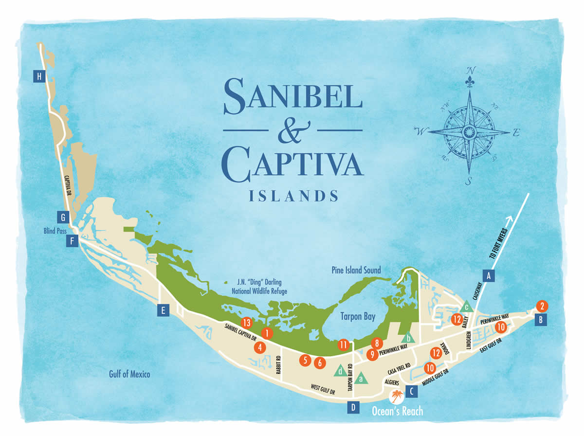 Sanibel Island Florida Map Sanibel Island Map to Guide You Around The Islands